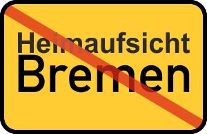 Bremen-Schild mit Beschriftung