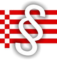Paragrafenzeichen vor der Bremer Speckflagge