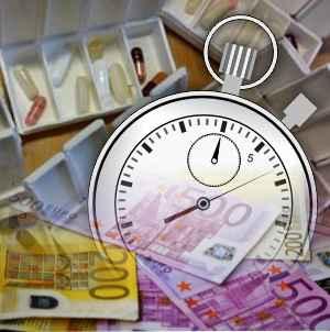 Medikamente Geld Stopuhr