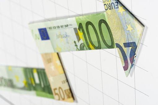 Geldscheine als Pfeile