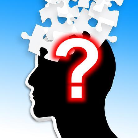 Kopf mit Fragezeichen