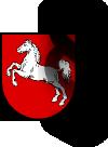 Niedersachsen-Wappen und Paragraphenzeichen